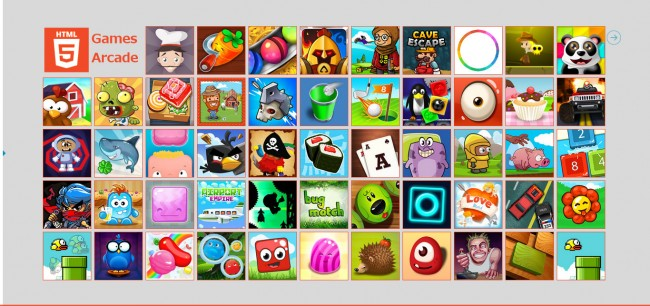 New HTML5 games.